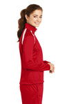 Sport-Tek LST90 Womens Full Zip Track Jacket Red Side