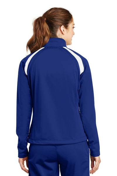 Sport-Tek LST90 Womens Full Zip Track Jacket Royal Blue Back