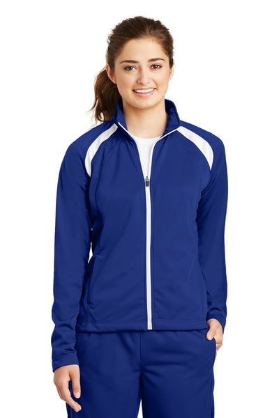 Sport-Tek LST90 Womens Full Zip Track Jacket Royal Blue Front