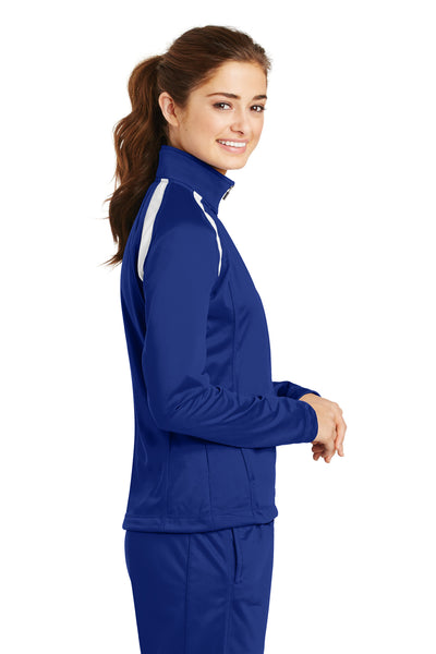 Sport-Tek LST90 Womens Full Zip Track Jacket Royal Blue Side