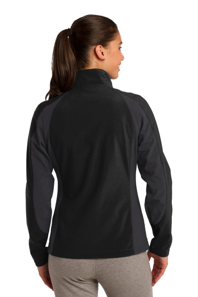 Sport-Tek LST970 Womens Water Resistant Full Zip Jacket Black/Grey Back