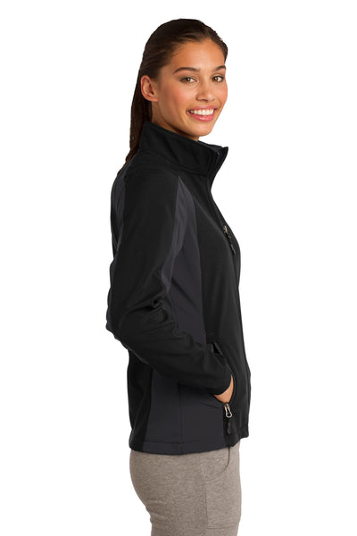 Sport-Tek LST970 Womens Water Resistant Full Zip Jacket Black/Grey Side