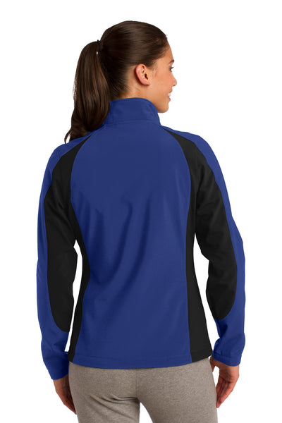 Sport-Tek LST970 Womens Water Resistant Full Zip Jacket Royal Blue/Black Back
