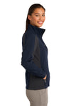 Sport-Tek LST970 Womens Water Resistant Full Zip Jacket Navy Blue/Grey Side