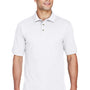 Harriton Mens Short Sleeve Polo Shirt - White