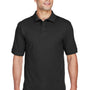 Harriton Mens Short Sleeve Polo Shirt - Black
