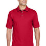 Harriton Mens Short Sleeve Polo Shirt - Red