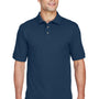 Harriton Mens Short Sleeve Polo Shirt - Navy Blue