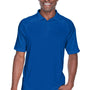 Harriton Mens Advantage Tactical Moisture Wicking Short Sleeve Polo Shirt - True Royal Blue