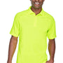 Harriton Mens Advantage Tactical Moisture Wicking Short Sleeve Polo Shirt - Safety Yellow