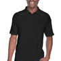Harriton Mens Advantage Tactical Moisture Wicking Short Sleeve Polo Shirt - Black