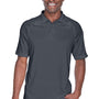 Harriton Mens Advantage Tactical Moisture Wicking Short Sleeve Polo Shirt - Dark Charcoal Grey