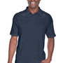 Harriton Mens Advantage Tactical Moisture Wicking Short Sleeve Polo Shirt - Dark Navy Blue