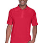 Harriton Mens Advantage Tactical Moisture Wicking Short Sleeve Polo Shirt - Red