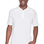 Harriton Mens Advantage Tactical Moisture Wicking Short Sleeve Polo Shirt - White