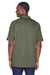Harriton M211 Mens Advantage Tactical Moisture Wicking Short Sleeve Polo Shirt Tactical Green Back