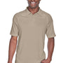 Harriton Mens Advantage Tactical Moisture Wicking Short Sleeve Polo Shirt - Desert Khaki