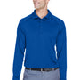 Harriton Mens Advantage Tactical Moisture Wicking Long Sleeve Polo Shirt - True Royal Blue