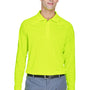 Harriton Mens Advantage Tactical Moisture Wicking Long Sleeve Polo Shirt - Safety Yellow