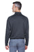 Harriton M211L Mens Advantage Tactical Moisture Wicking Long Sleeve Polo Shirt Charcoal Grey Back