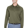 Harriton Mens Advantage Tactical Moisture Wicking Long Sleeve Polo Shirt - Tactical Green