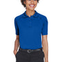 Harriton Womens Advantage Tactical Moisture Wicking Short Sleeve Polo Shirt - True Royal Blue