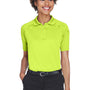 Harriton Womens Advantage Tactical Moisture Wicking Short Sleeve Polo Shirt - Safety Yellow
