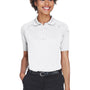 Harriton Womens Advantage Tactical Moisture Wicking Short Sleeve Polo Shirt - White