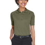 Harriton Womens Advantage Tactical Moisture Wicking Short Sleeve Polo Shirt - Tactical Green