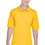 Harriton Mens Easy Blend Wrinkle Resistant Short Sleeve Polo Shirt - Sunray Yellow