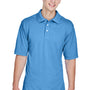 Harriton Mens Easy Blend Wrinkle Resistant Short Sleeve Polo Shirt - Nautical Blue