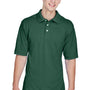 Harriton Mens Easy Blend Wrinkle Resistant Short Sleeve Polo Shirt - Hunter Green