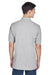 Harriton M265 Mens Easy Blend Wrinkle Resistant Short Sleeve Polo Shirt Heather Grey Back