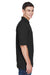Harriton M265 Mens Easy Blend Wrinkle Resistant Short Sleeve Polo Shirt Black Side
