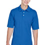 Harriton Mens Easy Blend Wrinkle Resistant Short Sleeve Polo Shirt - True Royal Blue