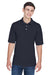 Harriton M265 Mens Easy Blend Wrinkle Resistant Short Sleeve Polo Shirt Navy Blue Front