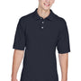Harriton Mens Easy Blend Wrinkle Resistant Short Sleeve Polo Shirt - Navy Blue