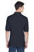 Harriton M265 Mens Easy Blend Wrinkle Resistant Short Sleeve Polo Shirt Navy Blue Back