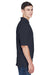 Harriton M265 Mens Easy Blend Wrinkle Resistant Short Sleeve Polo Shirt Navy Blue Side
