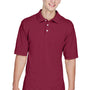 Harriton Mens Easy Blend Wrinkle Resistant Short Sleeve Polo Shirt - Wine