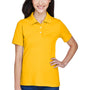 Harriton Womens Easy Blend Wrinkle Resistant Short Sleeve Polo Shirt - Sunray Yellow