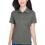 Harriton Womens Easy Blend Wrinkle Resistant Short Sleeve Polo Shirt - Charcoal Grey