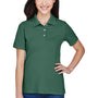 Harriton Womens Easy Blend Wrinkle Resistant Short Sleeve Polo Shirt - Hunter Green