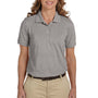 Harriton Womens Easy Blend Wrinkle Resistant Short Sleeve Polo Shirt - Heather Grey