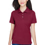 Harriton Womens Easy Blend Wrinkle Resistant Short Sleeve Polo Shirt - Wine