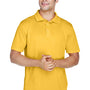 Harriton Mens Polytech Moisture Wicking Short Sleeve Polo Shirt - Gold