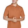 Harriton Mens Polytech Moisture Wicking Short Sleeve Polo Shirt - Texas Orange