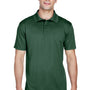 Harriton Mens Polytech Moisture Wicking Short Sleeve Polo Shirt - Dark Green