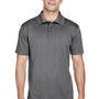 Harriton Mens Polytech Moisture Wicking Short Sleeve Polo Shirt - Charcoal Grey