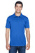 Harriton M315 Mens Polytech Moisture Wicking Short Sleeve Polo Shirt Royal Blue Front